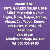 İŞ AXTARIRAM müəllim və repetitor